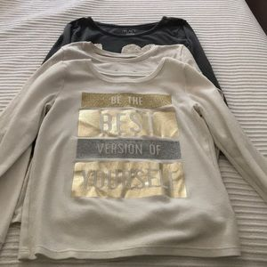Bundle of 3 long sleeve girls shirts
